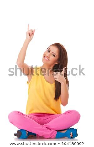 youn casual woman choosing you stock photo © feedough