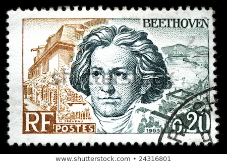 Beethoven postage stamp Stock photo © sirylok