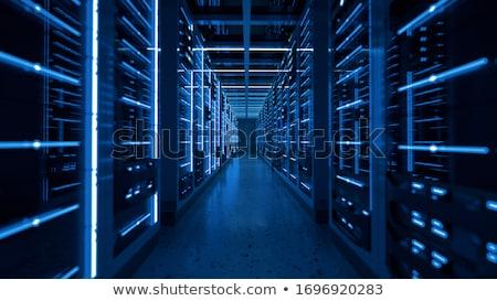 Szerver rack gyülekezet adatközpont sekély mélységélesség szín Stock fotó © lightpoet