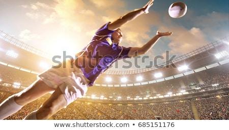 Rugby jogador campo homem esportes bola Foto stock © photography33