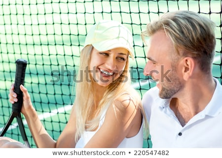 Young couple with tennis racquets Stock photo © photography33