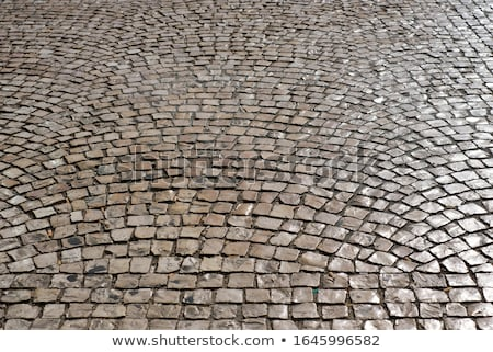 old pavement in a street of Lisbon Stock photo © inaquim