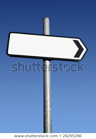 right pointing old direction sign with space for text stock photo © latent