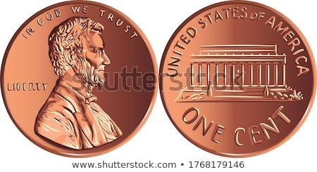 americano · moeda · deus · confie · preto · fundo - foto stock © devon