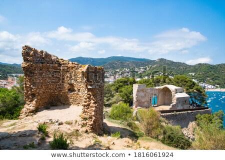 Foto stock: Ruin Of Spanish Church In Tossa De Mar