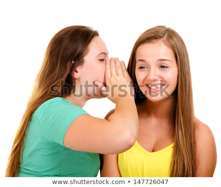 young teenager whispering chit chat stock photo © rob_stark