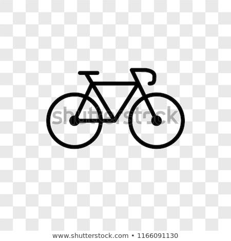 fiets · stencil · witte · grijs · beton - stockfoto © jakgree_inkliang