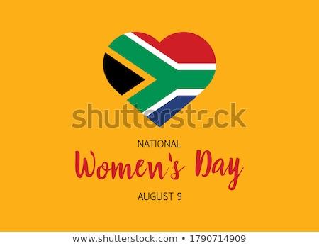 画像 中心 フラグ 南アフリカ 国 ストックフォト © perysty