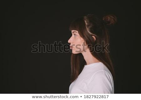 gyönyörű · szőke · nő · szép · manikűr · fiatal · lány - stock fotó © dolgachov