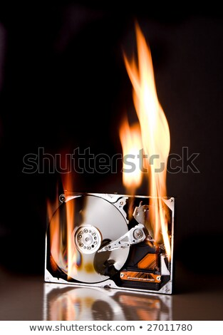számítógép · merevlemez · égő · közelkép · kép · tűz - stock fotó © stevanovicigor
