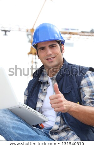 Man on site giving the go ahead Stock photo © photography33