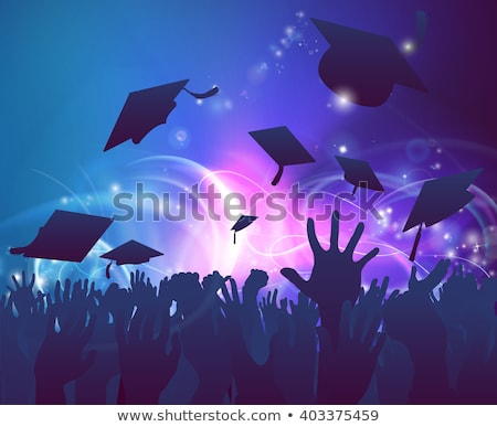 main · graduation · cap · école · étudiant · fond - photo stock © experimental