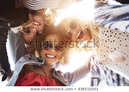 Best friends enjoying music together Stock fotó © stockyimages