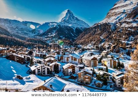 Швейцария пейзаж снега красоту горные отпуск Сток-фото © sumners