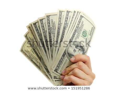 nő · fizet · USA · dollár · pénz · bankjegyek - stock fotó © piedmontphoto