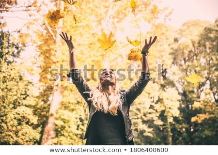 lányok · szórakozás · erdő · nők · természet · gyermek - stock fotó © DNF-Style