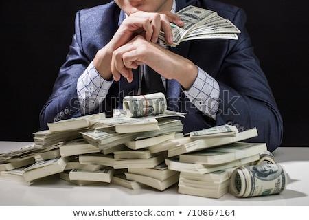 счастливым · бизнесмен · долларов · деньги · мужчин · черный - Сток-фото © photography33