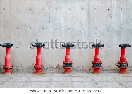High pressure fire hose valve concept of fire safety and emergency Stock photo © johnkwan