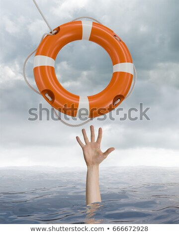3d man with life preserver stock photo © ribah