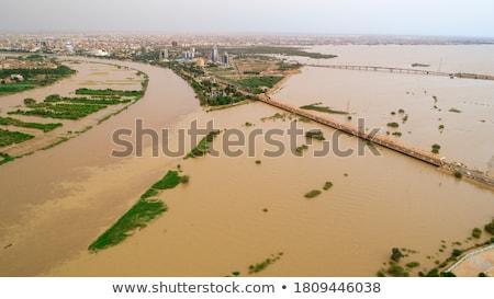 Szudán térkép zászló utazás piros fekete Stock fotó © tshooter