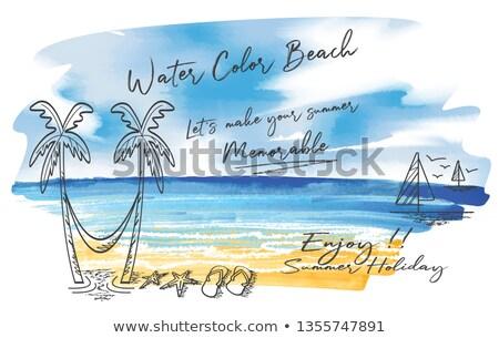 морем почты сообщение бутылку изолированный пляж Сток-фото © kornienko