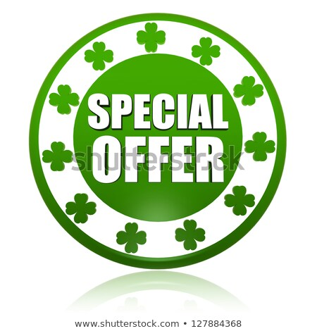 special offer in circle label with shamrocks Stock photo © marinini