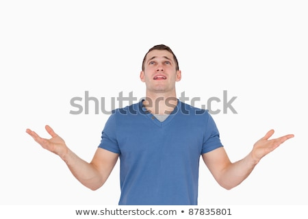Homme homme blanc main visage mode modèle Photo stock © wavebreak_media
