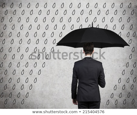 Security Concept - Umbrella Under The Clouds Stock photo © ankarb
