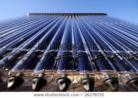 Solaire chauffage panneau verre carrelage Photo stock © Rob300