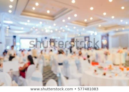 Çin ziyafet düğün tablo sığ restoran Stok fotoğraf © szefei