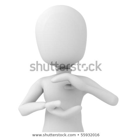 3次元の男 · オブジェクト · 手 · 愛 · 男 - ストックフォト © digitalgenetics