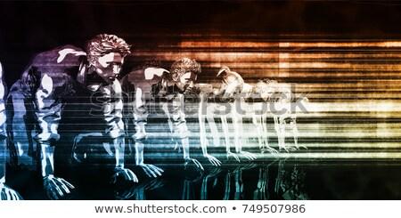 pensar · palabras · pizarra · resumen · luz - foto stock © Ansonstock