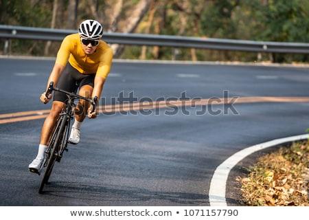 Ciclismo homem moço quebrar segurança Foto stock © val_th