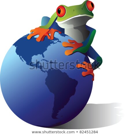 Global Earth Frog Stock photo © Lightsource