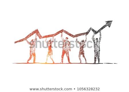 business teamwork growth stock photo © lightsource