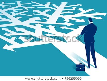 trudny · opcje · działalności · biznesmen · stałego - zdjęcia stock © lightsource