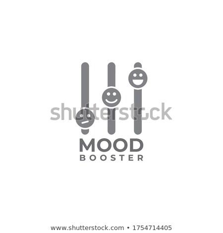 Logo hangulat virág üveg felirat háló Stock fotó © butenkow