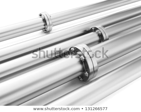 Image of metal pipes, industrial piping delivery of fuel or wate Stock photo © kolobsek