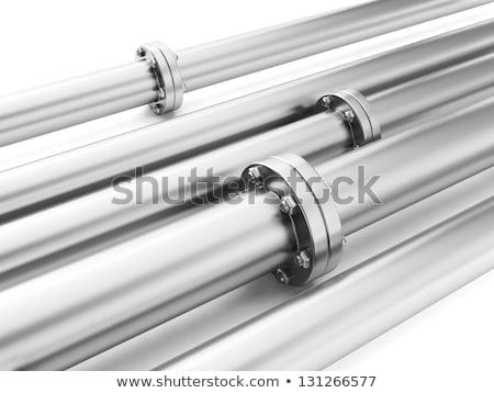 imagem · metal · pipes · industrial · entrega · combustível - foto stock © kolobsek