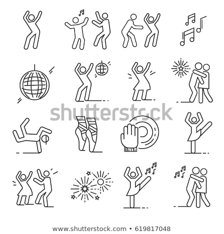 пару танцы stick figure набор изолированный белый Сток-фото © cteconsulting