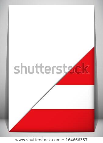 Австрия стране флаг страница знак путешествия Сток-фото © gubh83