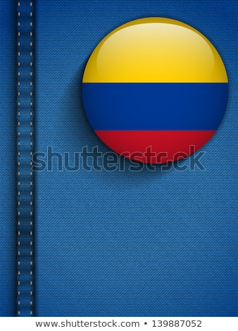 Colombia zászló gomb farmer zseb vektor Stock fotó © gubh83