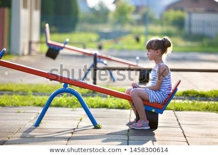Küçük kız park çocuk güzellik ayakkabı Stok fotoğraf © przemekklos