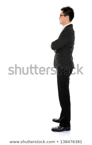 vista · lateral · Asia · hombre · de · negocios · jóvenes · aislado - foto stock © szefei