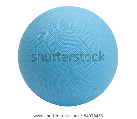 Blue dodge ball a sporting goods isolated  Stock photo © JohnKasawa