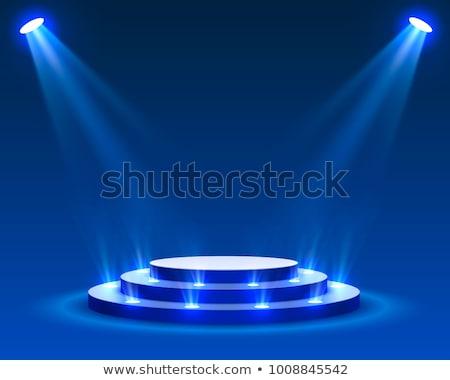 jasnoniebieski · zwycięzca · podium · piękna · plastikowe · ilustracja - zdjęcia stock © obradart