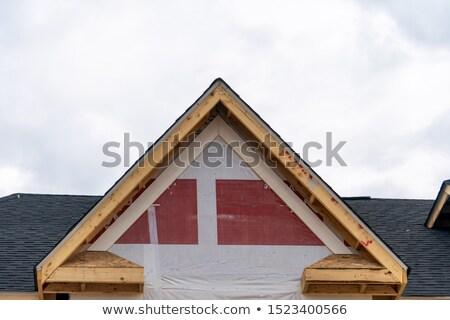 Americano residencial casa estructura tuberías Foto stock © lunamarina