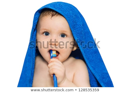 Beautiful girl with brushes his teeth. Stock photo © justinb