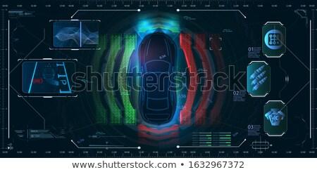 車 コントロールパネル クローズアップ 表示 光 速度 ストックフォト © Mikko
