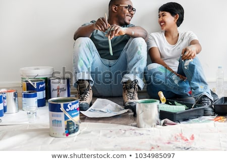 couple painting together stock photo © photography33